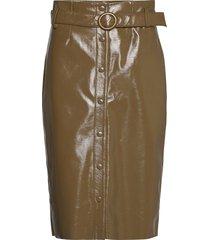 caroli skirt 12869 knälång kjol grön samsøe samsøe