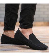 zapato mocasín  - negro