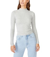cotton on quinny long sleeve rib pullover