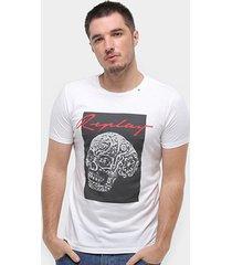camiseta replay caveira masculina - masculino