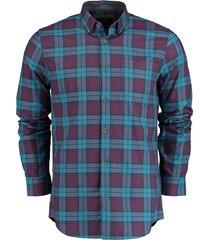 vanguard overhemd l.m. ruit bordeaux vsi195434/5232