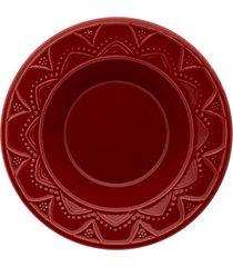 conjunto de 6 pratos fundos 23cm serena veludo - multicolorido - dafiti