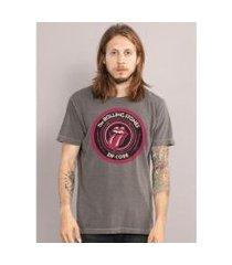 camiseta bandup! premium the rolling stones zip code masculina