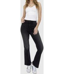 jeans flare negro racaventura