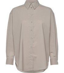 gina wool långärmad skjorta grå dagmar