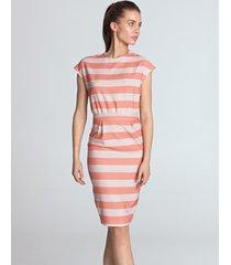 sukienka ołówkowa w pasy