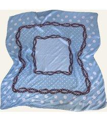pañuelo celeste nuevas historias cadenas y lunares ba536-23