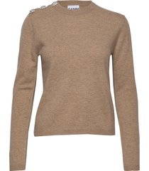 cashmere knit gebreide trui beige ganni