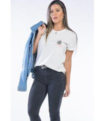 camiseta cia gota manga curta be cool feminina - feminino