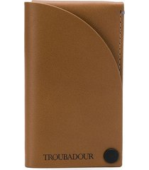troubadour business card holder - brown