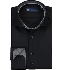 sleeve7 overhemd zwart met grijze details