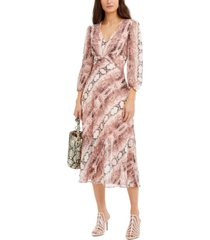inc snake-embossed chiffon maxi dress, created for macy's