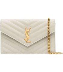 cream chain wallet