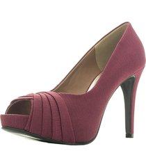 32355ce9c Peep Toes - Santa Scarpa - Vinho - 2 produtos com até 7.0% OFF - Jak&Jil