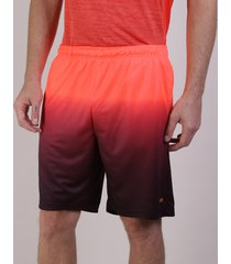 bermuda masculina esportiva ace com degradê laranja