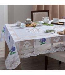 kit 4 toalhas de mesa renda 8 lugares  sortido - bene casa - estampado - dafiti
