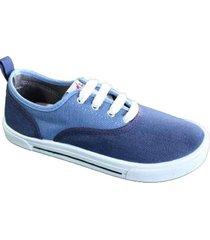 zapatilla azul blitz bicolor