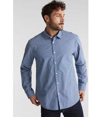 camisa regular manga larga estampada azul oscuro esprit
