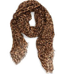 women's madewell literal leopard print scarf