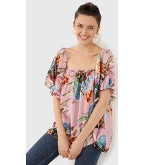 blusa lila-multicolor paris district