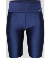 bermuda feminina esportiva ace com textura cintura alta azul marinho