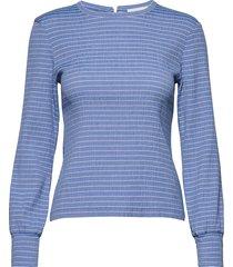 flexi pop barocca t-shirts & tops long-sleeved blauw mads nørgaard