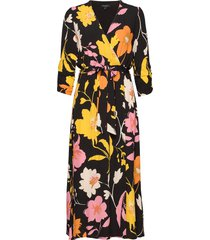 slfcadence-vienna 7/8 aop midi dress b jurk knielengte multi/patroon selected femme