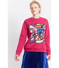 bluza cartoon różowa