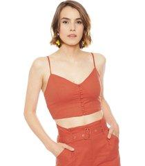 crop top wados s/m solid rojo - calce ajustado