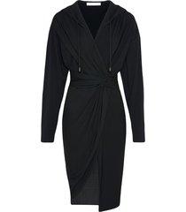 fenty hooded draped dress - black