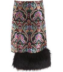 marco de vincenzo floral pattern skirt