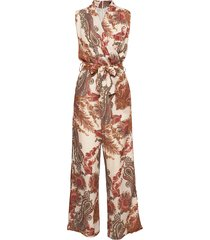 3384 - whitney n jumpsuit multi/patroon sand