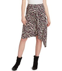 isabel marant women's roly draped printed stretch-silk skirt - black - size 36 (4)