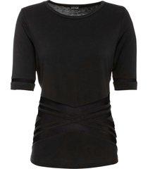 maglia con mesh a maniche corte (nero) - bodyflirt