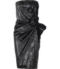 strapless velour lamé dress