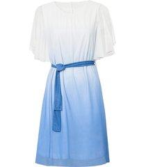 abito sfumato in mesh (bianco) - bodyflirt