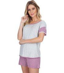 pijama curto cassis feminino