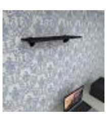 prateleira para escritório mdf suporte tucano cor preto 60(c)x20(p)cm modelo pratesp10