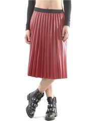 falda italiana ecocuero lisa rojo bous