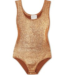 metallic stretch-knit bodysuit
