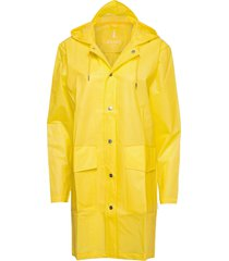 hooded coat regenkleding geel rains
