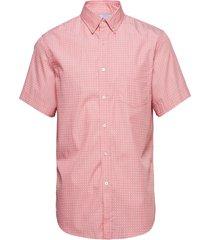 slim-fit luxe poplin print shirt kortärmad skjorta rosa banana republic