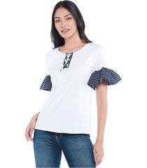 blusa original rayas blanca