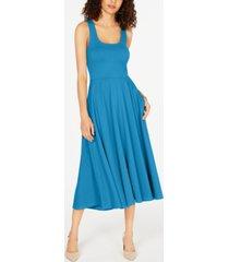 alfani tank fit & flare midi dress, created for macy's