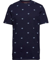 blauw indigo tee in solid and prints t-shirts short-sleeved blå scotch & soda
