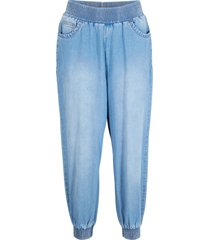 7/8-jeans med komfortmidja, ledig passform