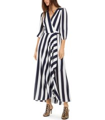 inc petite striped wrap maxi dress, created for macy's