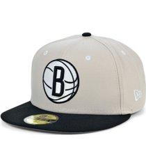 new era brooklyn nets stone 2 tone 59fifty cap