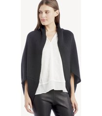 women's waffle knit cocoon wrap kimono black one size from sole society