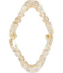 'chatter box' diamond 10k yellow gold single drop earring